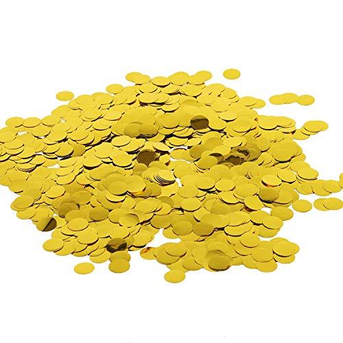 Battife Gold Metallic Glitter Foil Confetti 1.8oz - 0.6inch Round Table Confetti Dots for Wedding Celebrations Party Decorations - 50grams (Gold) (Don T Be A Party Popper Invitation)