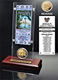 "NFL Green Bay Packers Super Bowl 31 Ticket & Game Coin Collection, 12"" x 2"" x 5"", Black"
