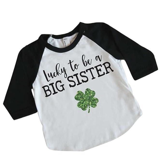 e2c1c5c8 Bump and Beyond Designs Big Sister St Patrick's Day Shirt for Girls, Big  Sister Shirt