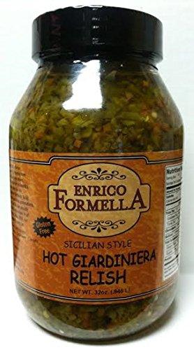 Enrico Formella Hot Giardiniera Relish 32oz. (Relish Giardiniera)