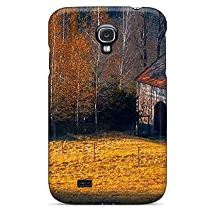 Awesome Horse Farm In Autumn Flip Case With Fashion Design For Galaxy S4