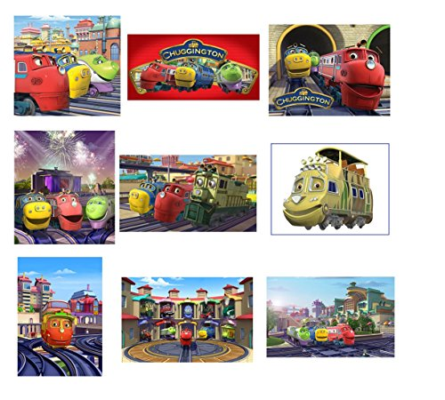 9 Chuggington Stickers, for Favors Party Supplies Labels