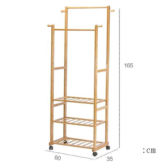 Amazon.com: Qfgis - Perchero para abrigo, de madera, estilo ...