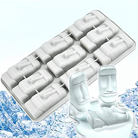 Molde de silicona para hielo de Pascua Isla Moai: Amazon.es: Hogar