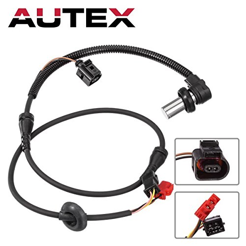 AUTEX ABS Wheel Speed Sensor 4B0927803C 8D0927803D ALS424 Front Left/Right compatible w/ 2000 2001 2002 2003 2004 2005 Volkswagen Passat 2000 2001 Audi A4/Audi A4 Quattro/Audi S4