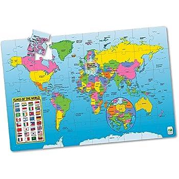Amazon melissa doug world map jumbo jigsaw floor puzzle 33 the learning journey jumbo floor puzzles map of the world gumiabroncs Image collections