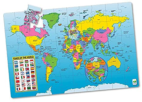 the learning journey jumbo floor puzzles map of the world