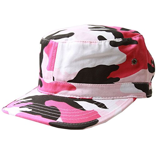 MG Women's Cotton Twill Enzyme Washed Cadet Cap (Pink Camo)  One ()