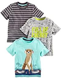 Boys' Toddler 3-Pack Short-Sleeve Graphic Tees