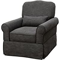 HOMES: Inside + Out IDF-RC6459GY Knope Rocker Chair, Dark Gray