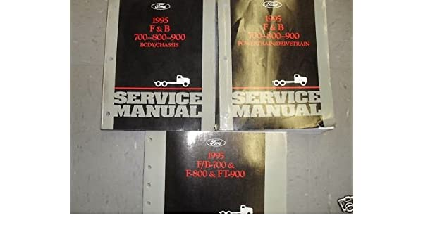 1995 ford f&b 700 800 900 truck service manual set oem (service manual,and  the powertrain/drivetrain service manual, and the wiring diagrams manual