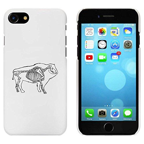 Blanc 'Squelette de Buffalo' étui / housse pour iPhone 7 (MC00063752)