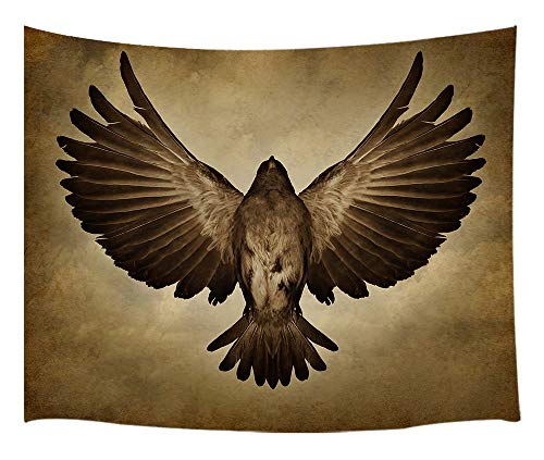 DYNH Eagle Tapestry Wall Hanging, Wild Animals Spread Their Wings on Vintage Backdrop, Tapestries Art Home Decor Bedroom Living Room Dorm TV Backdrop, Beach Blanket 60X40 Inches