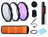 67 mm lens hood and filter - Professional Universal Lens Accessory Kits 67 MM UV CPL FLD Lens Filters + Petal Lens Hood + Center Lens Cap Set + Cleaning Pen + Cleaning Wipe for Canon Nikon Sony SLR DSLR Cameras(67MM)
