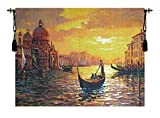 Home Furnishings, Santa Maria Sunset, Belgian Tapestry Wall Hanging, Wall Art Decor, 38 by 30 Inch