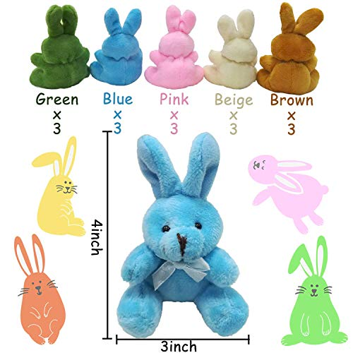 30 PCS Easter Eggs Basket Stuffers Plush Bunnies Toy Plastic Easter Eggs Fillers Bunny Kids Party Favors Surprise Easter Eggs Hunt Games Supplies Toddler Girls Toys Birthday Gifts Goodies bags by BSWEEII (Image #1)