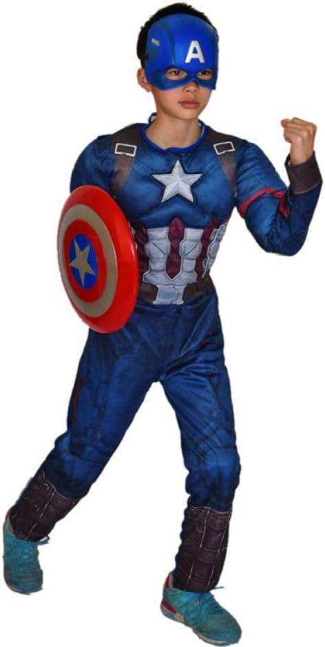 XINFUKL Disfraz De Capitán América Disfraz Máscara Escudo Disfraz ...