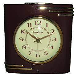 TimeWise Crestone Alarm Clock (Brown and Gold)