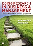 img - for Doing Research in Business & Management: An Essential Guide to Planning Your Project book / textbook / text book