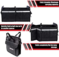 Minivan Interior of SUV Jeep Front Seat Tuff Stuff Box Car Trunk and Backseat Storage Organizer: Collapsible Organizers for Truck Bed Sedan Subaru Heavy Duty Caddy with Insulated Cooler Bag