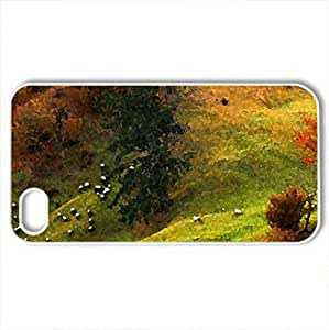 Autumn - Case Cover for iPhone 4 and 4s (Fields Series, Watercolor style, White)