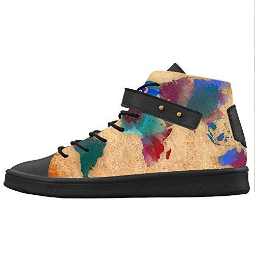 Custom Mappa del mondo Womens Canvas shoes Le scarpe le scarpe le scarpe.