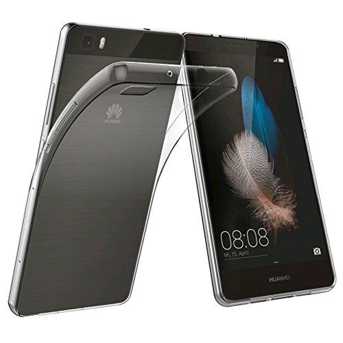 Huawei P8 Lite Hülle , [2 Pack],Simpeak Ultra-Clear Huawei P8 Lite Case Silikon Soft TPU Crystal Clear Premium Durchsichtig Handyhülle Schutzhülle Case Backcover Bumper Slimcase für P8 Lite