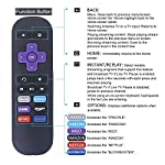 Gvirtue Replacement Lost Remote Control Compatible with Roku 1, Roku