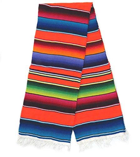 Leos Imports (TM) Sarape Serape Mexican Blanket XL 82'' x 62'' (Orange) by Leos Imports