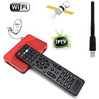 Mini DVB-S2 American Satellite Iptv Combo FTA Receiver TV BOX & Wifi Dongle