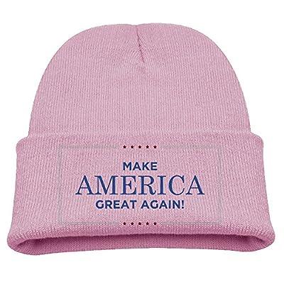SuperFF Kid's Make America Great Again Beanie Cap Knit Cap Woolen Hat