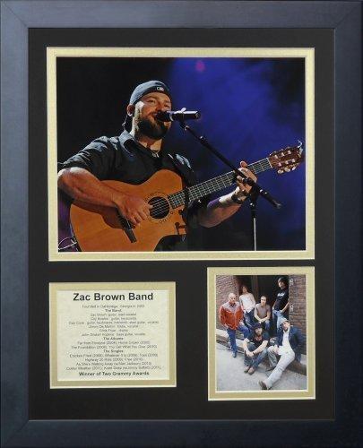 """Legenden Sterben Nie """"Zac Braun Band"""" gerahmtes Foto Collage, 11 x 35,6 cm von Legends Never Die"""