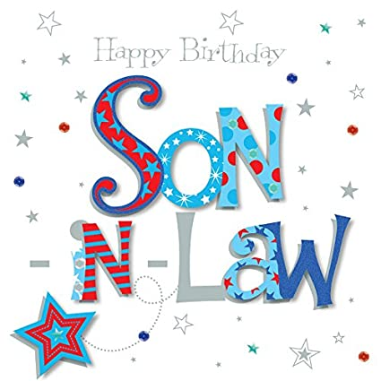 Amazon Son In Law Happy Birthday Greeting Card By Talking