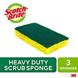 Scotch-Brite Scrub Sponge, 3 Pack, Heavy Duty, Garage/Outdoor/Kitchen Scrubber