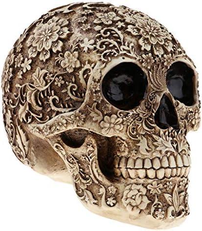 頭蓋骨 彫像 手作りの彫刻 塗装 科学 知育 おもちゃ セピア効果 活動 ハロウィン 耐久性