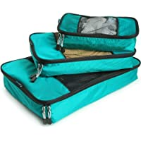 TravelWise Packing Cube System Durable 3 Piece Weekender Set (Multiple Colors)