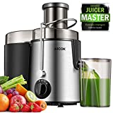 Juicer Centrifugal Juicer Machine Wide 3' Feed Chute Juice Extractor Easy to Clean, Fruit Juicer with Pulse Function and Multi Speed control, Anti-drip , Stainless Steel BPA-Free