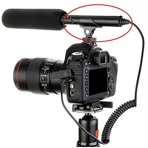 Foto4easy Hot Shoe Clip Microphone Boom Mic Mount Holder for DSLR SLR Camcorder Camera (Black) - Hot Shoe Boom Mic