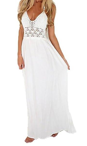 Moda de vestidos casuales blancos