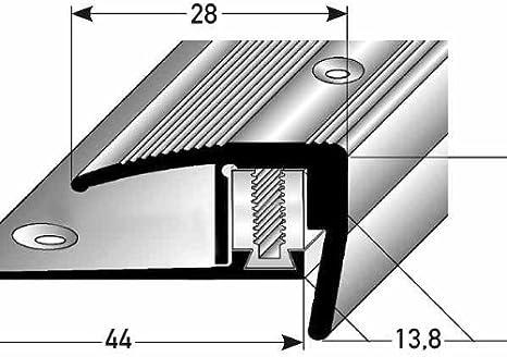 Mamperlán por laminado / parquet, elevación: 7 – 15,5 mm, 28 mm de ancho, 3-piezas, aluminio anodizado - color: dorado: Amazon.es: Hogar