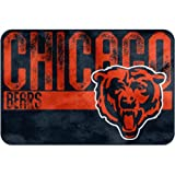 """NFL """"Worn Out"""" Bath Mat, 20"""" x 30"""" - Most NFL Teams Available (Chicago Bears)"""