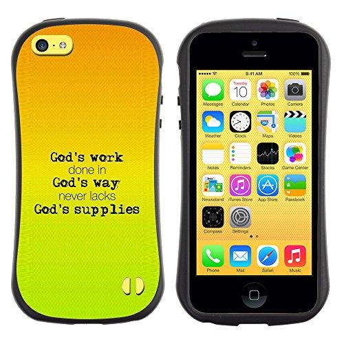 DREAMCASE Citation de Bible Silicone et Rigide Coque Protection Image Etui solide Housse T¨¦l¨¦phone Case Pour APPLE IPHONE 5C - GOD'S WORK