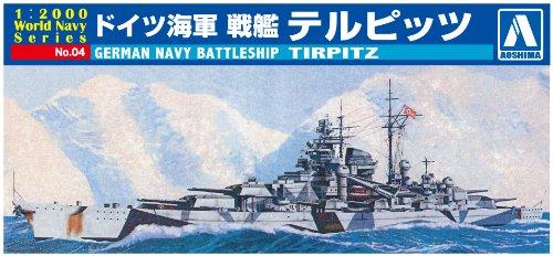 AOSHIMA 009352 1/2000 German Battleship Tirpitz -