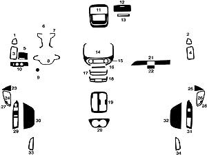 Rvinyl Rdash Dash Kit Decal Trim for Chevrolet Colorado 2015-2020 - Wood Grain (Walnut)