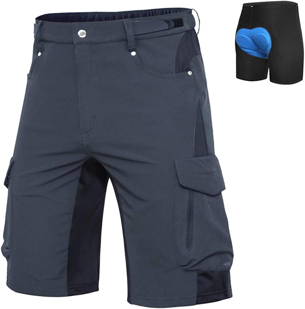 Ally Mens Mountain Bike Shorts Padded MTB Shorts Baggy Cycling Bicycle Bike Shorts with Padding Wear Relaxed Loose-fit