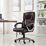 Mocha PU Leather Office Chair With Ebook
