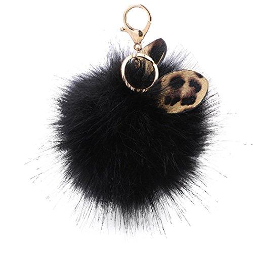 AutumnFall Keychain,2017 Cute Rabbit Fur Ball