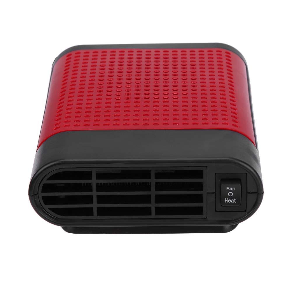 Keenso 12V Car Vehicle Electric Auto Hot Warm Heater Fan Fast Heating Dryer Window Windshield Fan Defroster Demister Portable Car Heater Black /& Gray