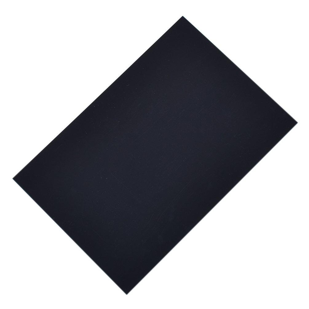 Hongma Planche Plastique 200x300mm Plaque ABS Noir Artisanal DIY