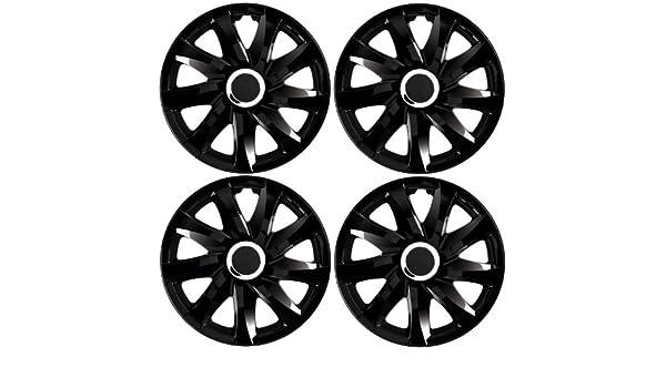 Tapacubos DRF Negro 15 pulgadas apta para Skoda Fabia 6Y, 5J, Octavia 1U GL Praktik, Roomster 5J,: Amazon.es: Coche y moto